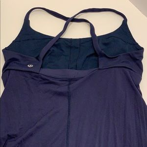 lululemon athletica Tops - Lululemon navy blue cross back tank